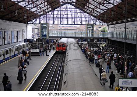 london tube station - stock photo