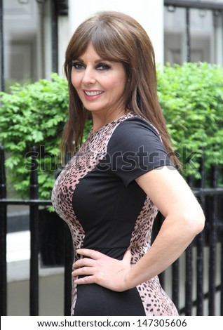 London, UK. Carol Vorderman launches the A/W 2013 collection for Isme.com, Dean Street, London. 22nd May 2013 - stock photo