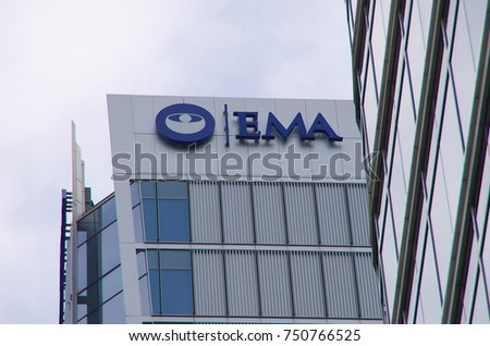 LONDON,UK -  CIRCA OCT 2017 - The headquarter of the European Medicines Agency (EMA) in Canary Wharf, London. After the Brexit,EMA will move to another European city, that will be soon announced.
