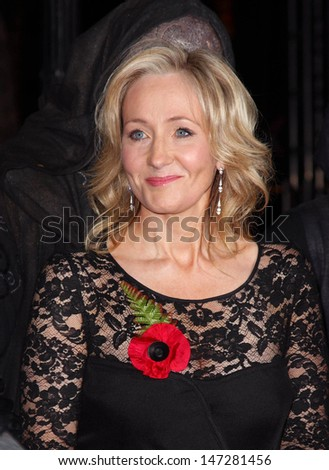 London, UK.  111110. J K Rowling at the World Premiere of the film Harry Potter and the Deathly Hallows Part 1 held at the Odeon Leicester Square. 11 November 2010.  - stock photo