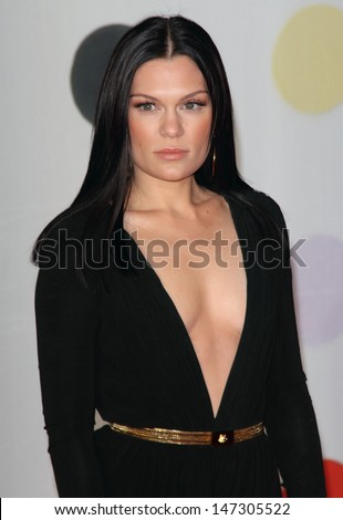 London, UK. 200213. Jessie J at the 2013 Brit Awards held at the O2 Arena in North Greenwich. 21 February 2012.  - stock photo