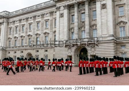 London, UK-July 20, Buckingham Palace, Changing of the Guard, July 20.2014 in London - stock photo
