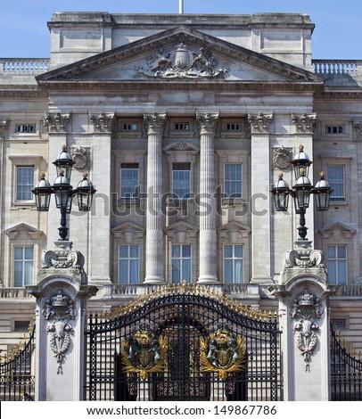 LONDON, UK - JULY 18, 2013: Buckingham Palace in London. - stock photo