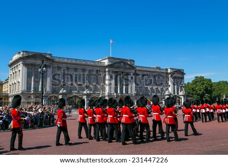 London, UK-July 04, Buckingham Palace, July 04.2014 in London - stock photo