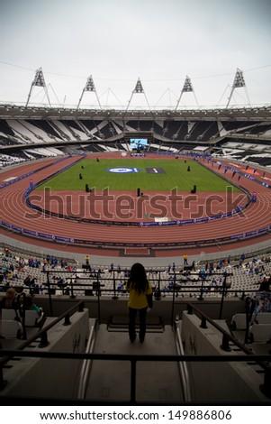 LONDON, UK - JULY 21: Inside the London Olympic Stadium' in London on the July 21, 2013 in London, UK - stock photo