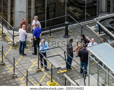 LONDON, UK - JUN 14 : A view from Westminster Cathedral in London on June 14, 2013. Unidentified people. - stock photo