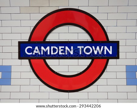 LONDON, UK - June 17, 2015: Camden Town underground station in London. London Underground is the 11th busiest metro system worldwide with 1.1 billion annual rides. - stock photo