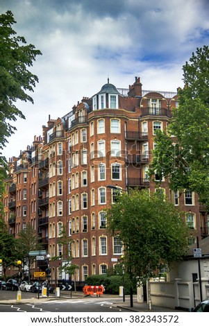 london uk june 5 2015 old large apartment red brick houses on - Brick Apartment 2015