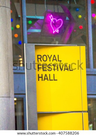 LONDON, UK - JUNE 6, 2015: The Royal Festival Hall built  in 1951 , use as a major music and entertainment venue