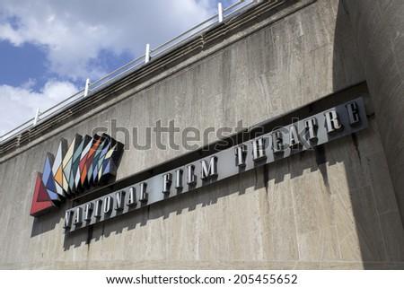 LONDON, UK - JUNE 21 2014: The Southbank Centre, National Film Theatre, London. - stock photo