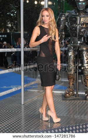 London. UK. Lauren Pope at UK Premiere of  Real Steel  at the Empire Cinema, Leicester Square. 14th September  20110.