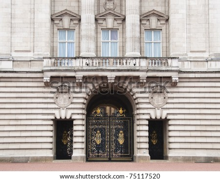 LONDON, UK - MARCH 26: Buckingham Palace which will be the starting point of the royal wedding procession to be held on Friday 29th April, March 26, 2011 in London, United Kingdom - stock photo