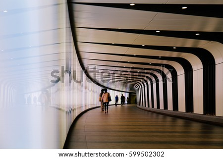 Light Wall Pedestrian Tunnel Kings Cross : Pedestrian Tunnel Stock Images, Royalty-Free Images & Vectors Shutterstock