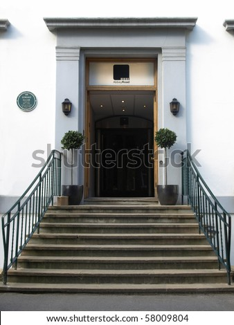 LONDON, UK - MAY 10: Entrance to the Abbey Road recording studios made famous by the 1969 Beatles album May 10, 2010 in London, UK - stock photo