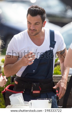 LONDON, UK - MAY. 16: Peter Andre is spotted in London on the May 16, 2014 in London, UK - stock photo