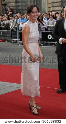 London, UK, 2nd September 2014:  Pippa Middleton attends the GQ Men of the Year awards at The Royal Opera House in London, UK.