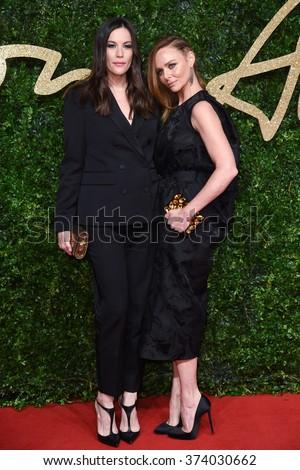 LONDON, UK - NOVEMBER 23, 2015: Liv Tyler & Stella McCartney at the British Fashion Awards 2015 at the Coliseum Theatre, London. November 23, 2015  London, UK Picture: Steve Vas / Featureflash - stock photo
