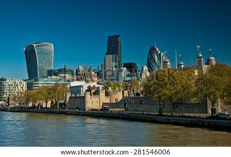 LONDON, UNITED KINGDOM - 26 APRIL, 2015: Financial District of London, United Kingdom on 26 April, 2015.