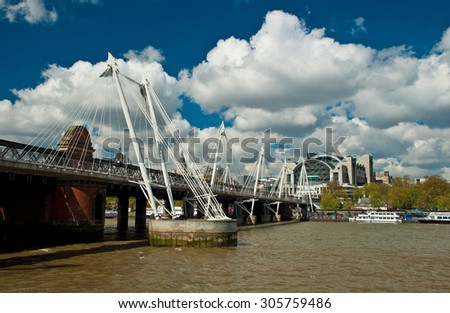 LONDON, UNITED KINGDOM - 27 APRIL, 2015: Nice view on London with the Thames River on 27 April, 2015. London is the capital of the United Kingdom.