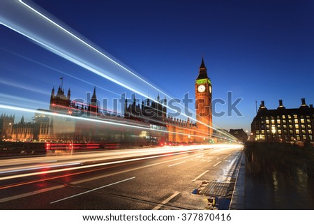 LONDON, UNITED KINGDOM -?? 22 JANUARY 2016: Big Ben and house of parliament at twilight, London, UK - stock photo