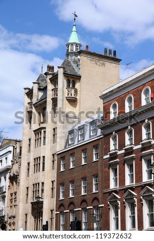 London, United Kingdom - typical English residential architecture.
