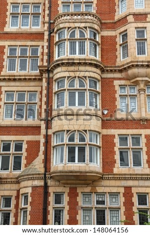 London, United Kingdom - typical English residential architecture in Notting Hill district. - stock photo