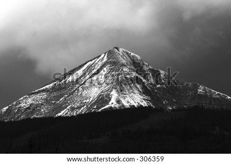 Lone Mountain - stock photo