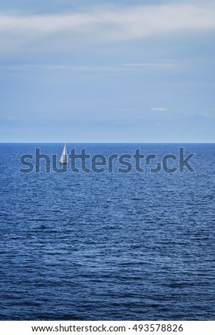 lone ship at sea spaces