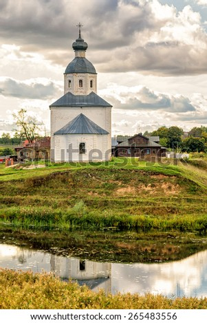 Lonely abandoned old church in Suzdal, Golden Ring of Russia. The ancient town of Suzdal is included in the UNESCO World Heritage List.