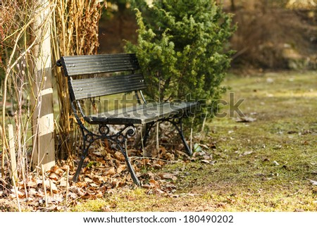 Lonely Bench - stock photo