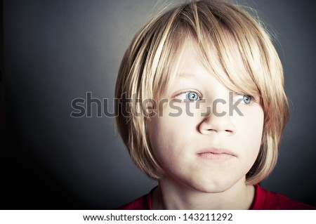 Lonely boy - stock photo