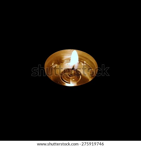 lonely candle - stock photo