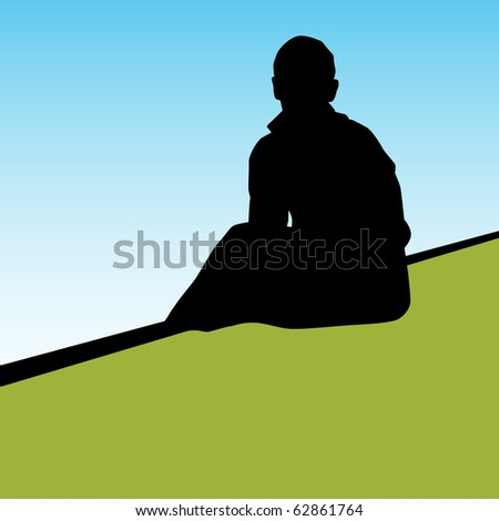 Lonely Person - stock photo