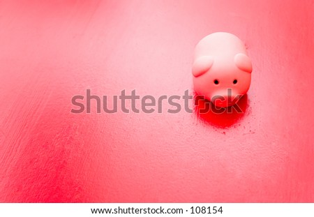 Lonely piggy - stock photo