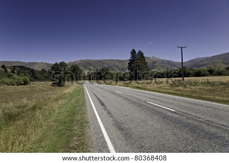 lonely road in rural area