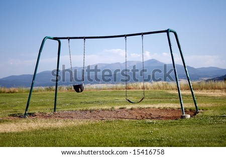 Lonely Swing-set - stock photo