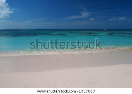 Long Bay Beach, Antigua - stock photo