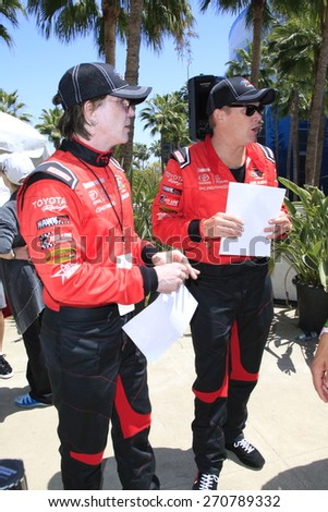 LONG BEACH - APR 18: John Rzeznik, Mark McGrath at the Toyota Grand Prix Of Long Beach Pro/Celebrity Race - Race Day on April 18, 2015 in Long Beach, California - stock photo