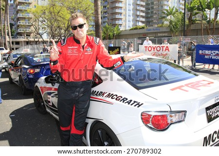 LONG BEACH - APR 18: Mark McGrath at the Toyota Grand Prix Of Long Beach Pro/Celebrity Race - Race Day on April 18, 2015 in Long Beach, California - stock photo