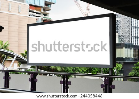 long blank advertising billboard  - stock photo
