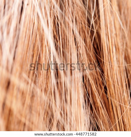 Long blond hair of woman on filament background