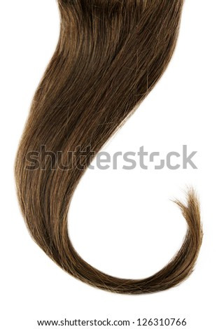 long brown curl isolated - stock photo