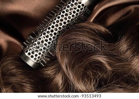 long brown hair - stock photo