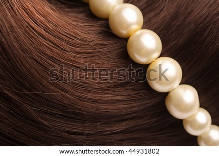 long brown hair as background - stock photo