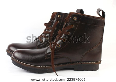 long Brown shoes