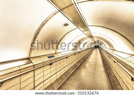 Long circular tunnel.