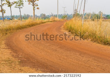 long dirt road that does not develop. - stock photo