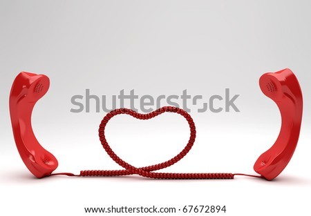 Long Distance Relationship - stock photo