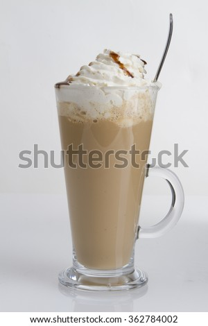 long drink delicious coffee - stock photo