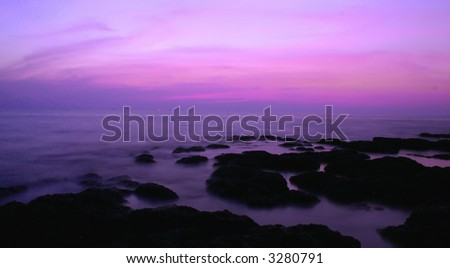 long exposure after sunset (goa, India) #6 - stock photo